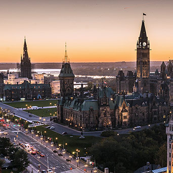 The parliament in Ottawa