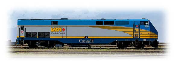 locomotives p42dc via rail