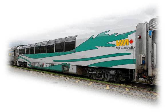 Glass-roofed Coach - VIA Rail Canada