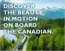 Discover the beauty in motion on board the Canadian.