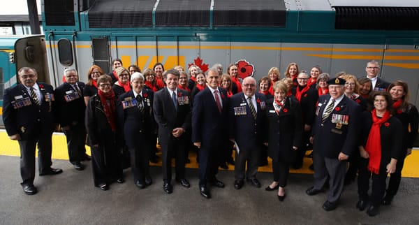 Official photo at Ottawa station of the National poppy campaign