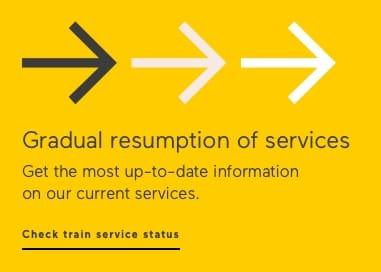 Get up to date informatin on our current service. Check train service status
