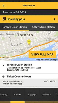 Mobile app train booking | VIA Rail