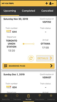 Display your trip summary
