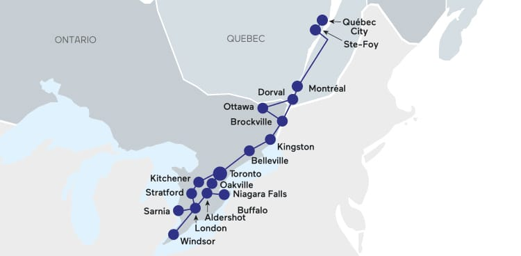 Via rail kingston to ottawa schedule