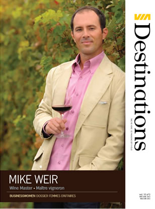 Magazine VIA destinations - mike weir - Wine Master
