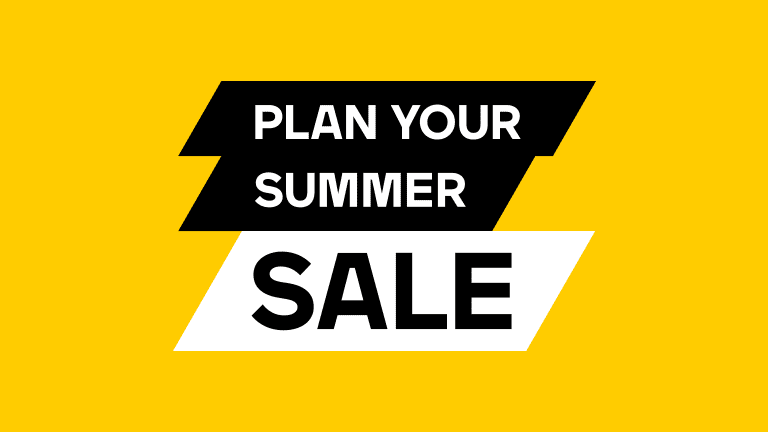 Plan your summer Sale