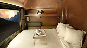 Inside the Prestige Sleeper cabin